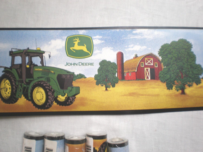 6 rolls john deere tractor wallpaper border by