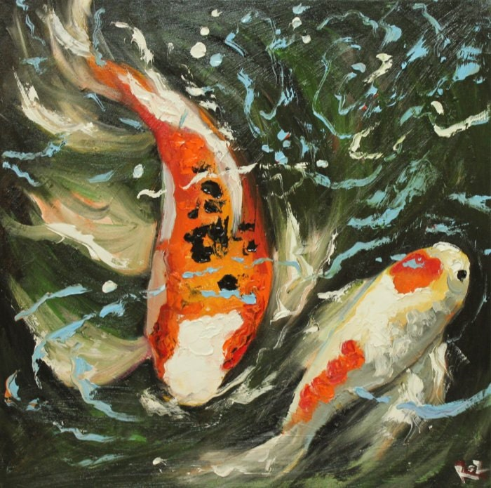 Unavailable listing on etsy for Original koi fish