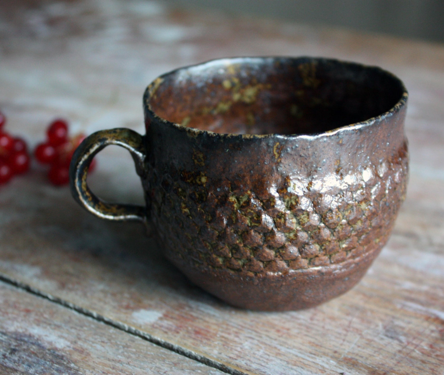 Small cup wood fired stoneware - StudioFragile