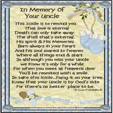 In Loving Memory Of Uncle Blue Icicle By CindisCandyCreations