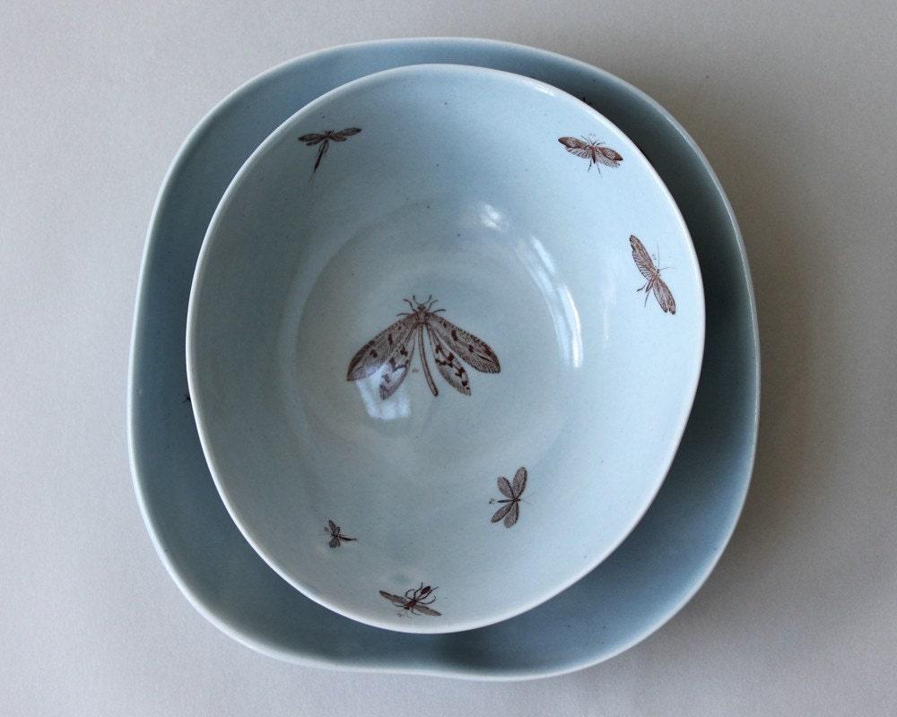 organic bowls set, two bowls