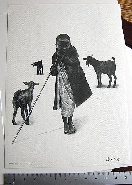 Goatherd Print