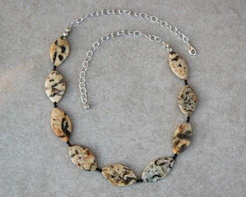 Graphic Feldspar Necklace