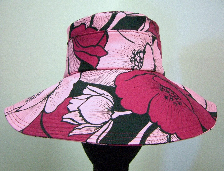 Nadine New York Pink Flower Wide brimmed hat
