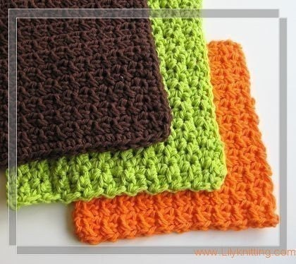 Circular Dishcloth Knitted Pattern. Knitted Dishcloth My First