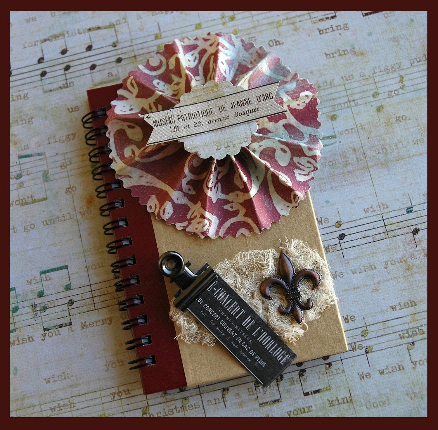 French Inspired Rosette Journal