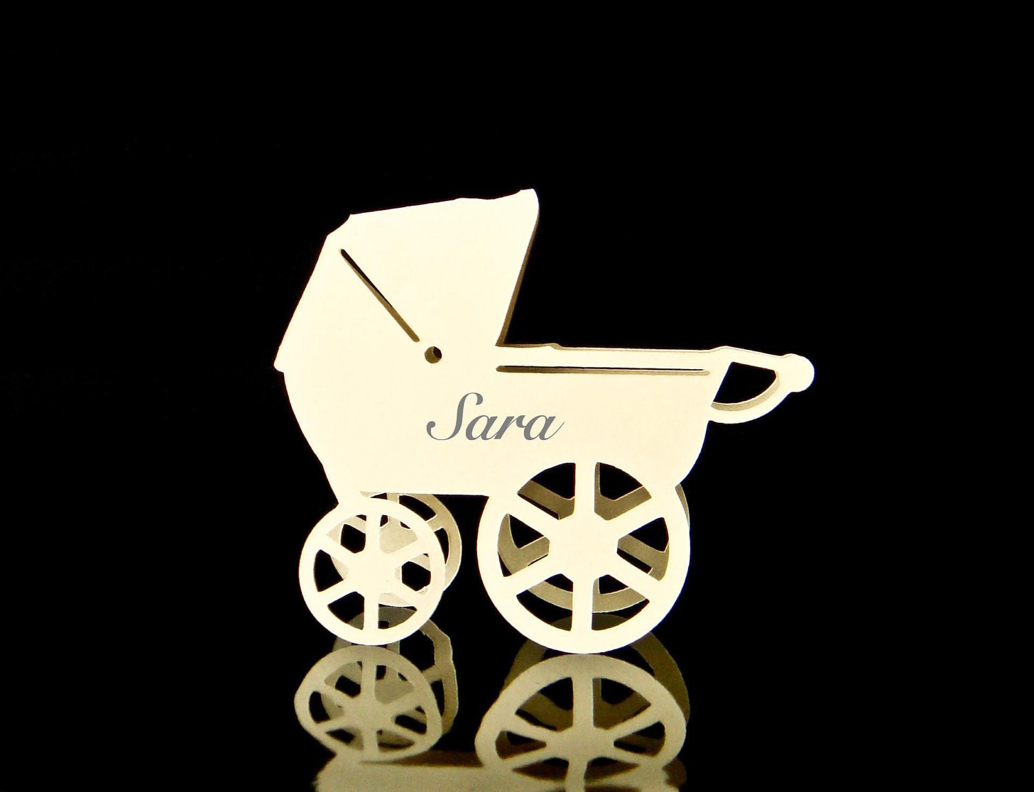 Baby Carriage / Pram Place Cards  - set of 20