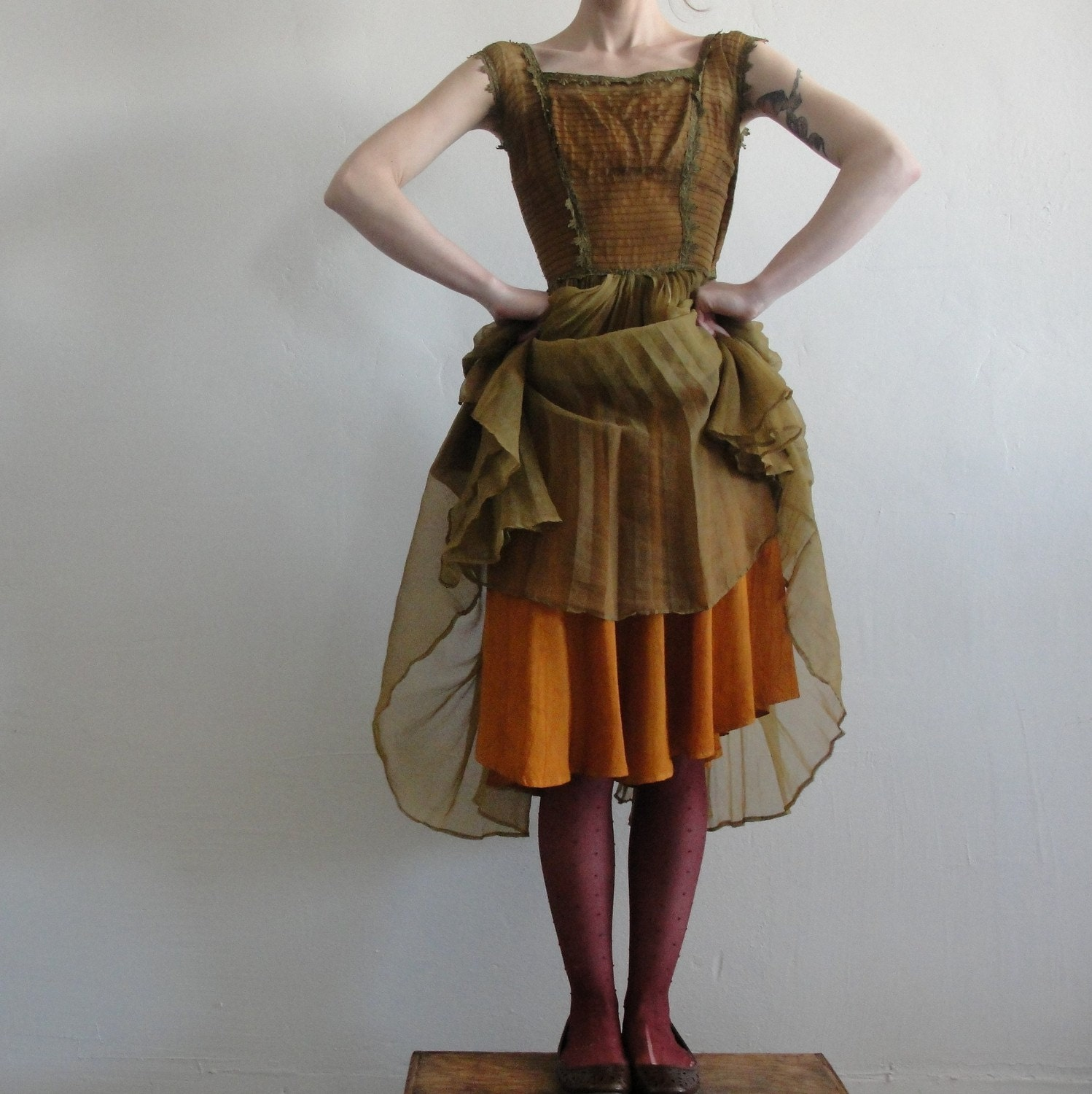 Woodland Nymph .. Antique Flapper Gown