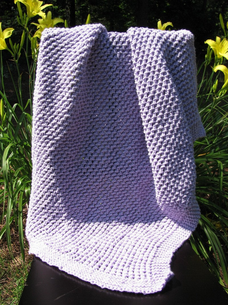 Quick Easy Baby Blanket Knitting Pattern : Items similar to Easy Bamboo Stitch Baby Blanket (Knitting Pattern) on Etsy