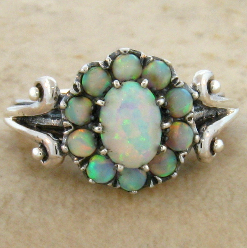 items similar to vintage opal ring sterling silver size 7