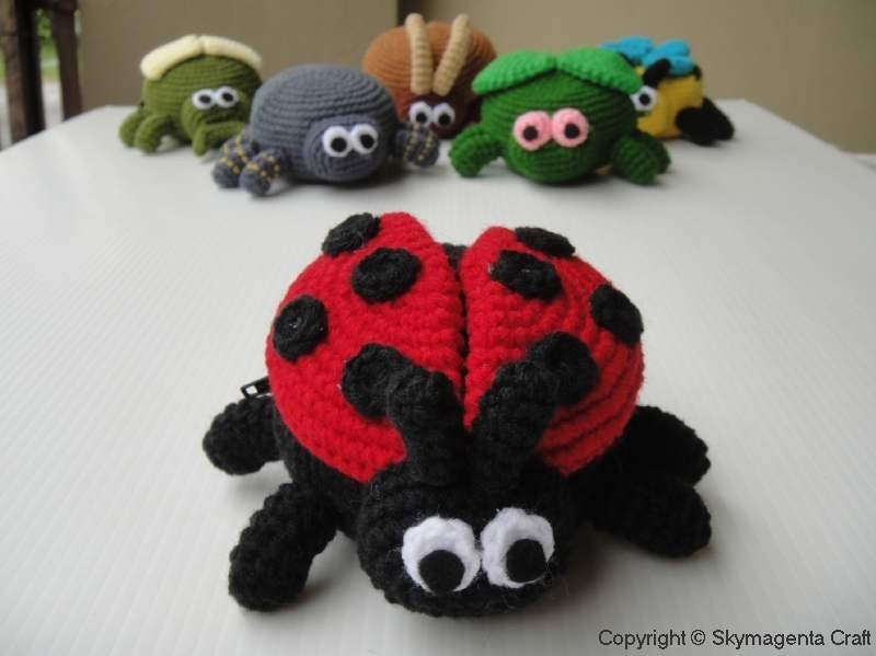 Crochet Purse - LADYBIRD - Coin Purse