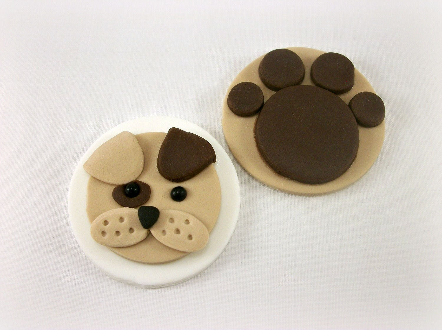 Puppy Fondant Cupcake Toppers Puppy Birthday Party Decor