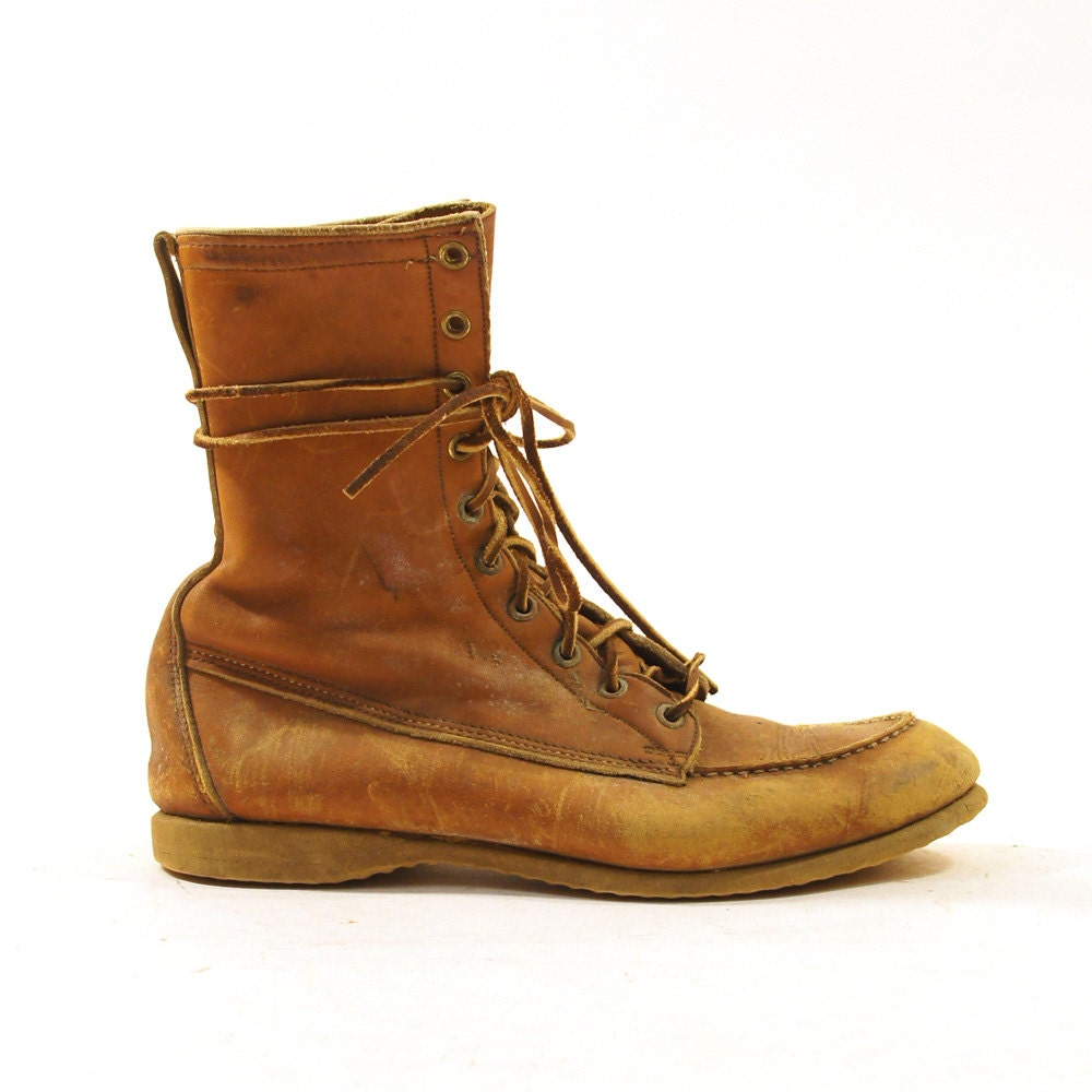sears work boots lace up ankle boots distressed by