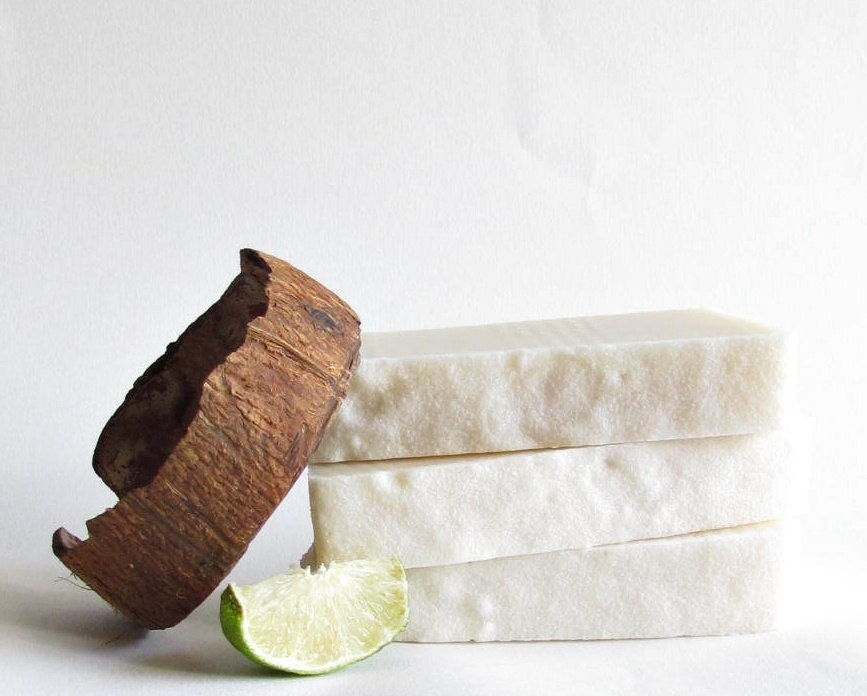 Coconut Lime Verbena Soap Cold Process - SouthernTwistedSoaps