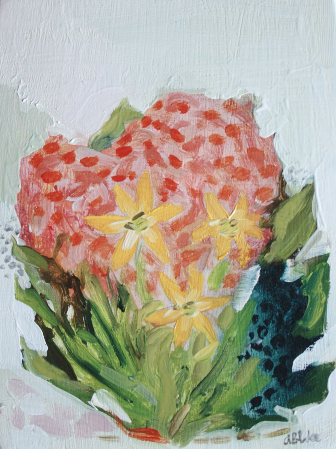 floral no. 9 - original oil painting - thisisalliknow