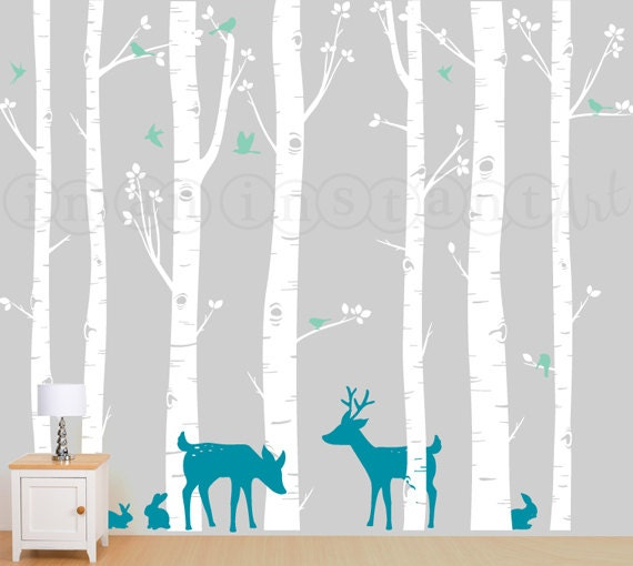 Birch Tree Wall Decal Birch Trees Birch Forest By
