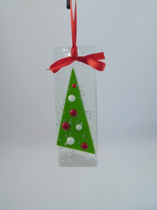 Glass Holiday Ornament - Christmas Tree