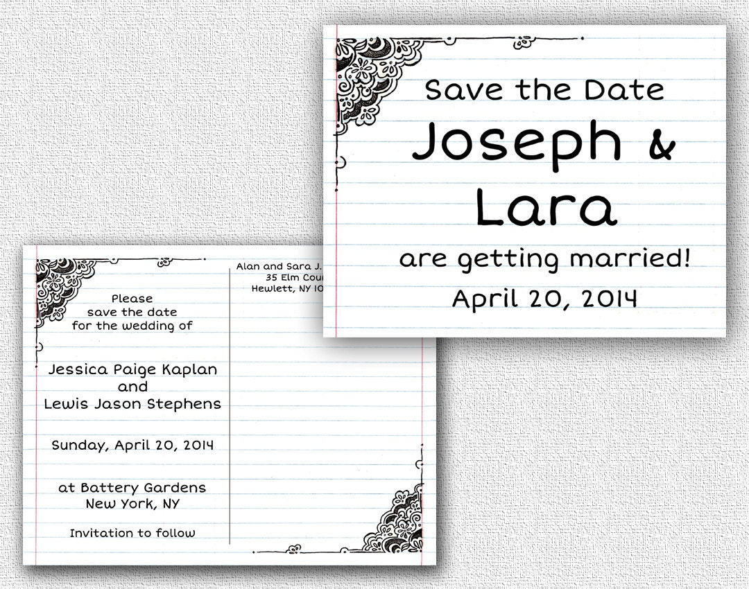 double sided save the date postcard template by jenmostgraphics. Black Bedroom Furniture Sets. Home Design Ideas