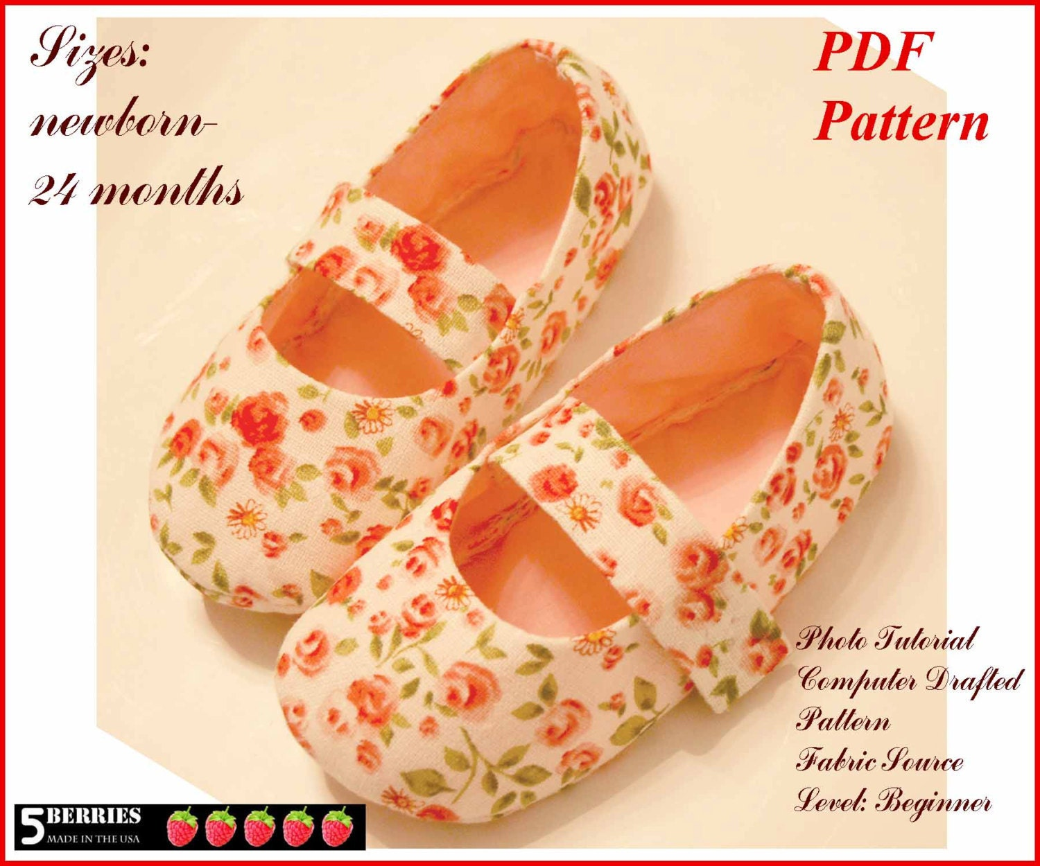 BABY MARY JANE SHOE PATTERN Sewing Patterns for Baby