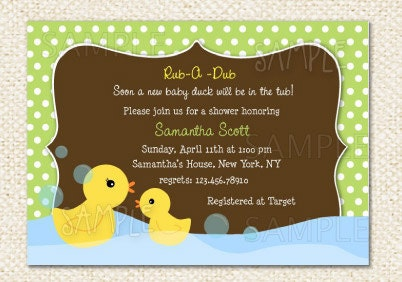 rubber duck baby shower invitations by lollipopprints on etsy