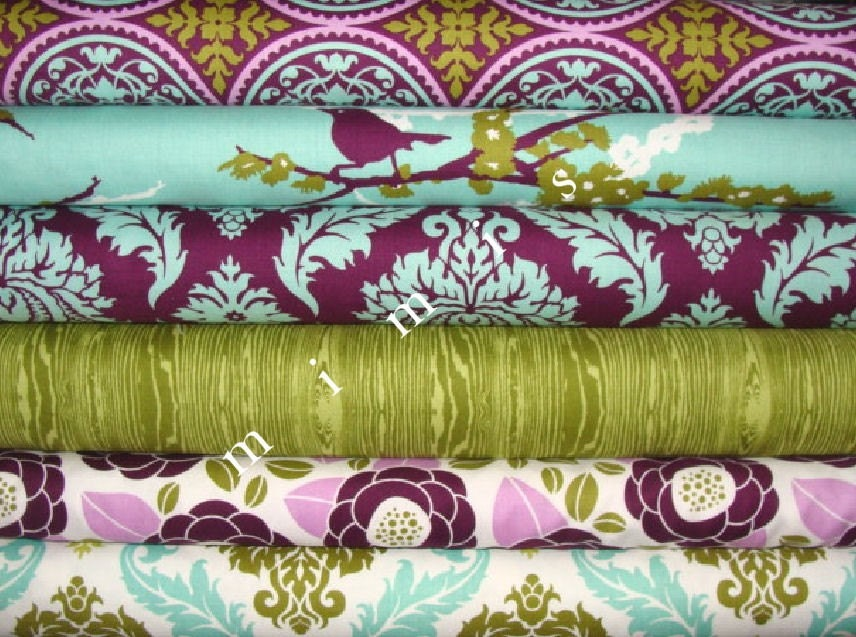 AVIARY 2  Joel Dewberry 6 Fat Quarter Pack Cotton Quilt Fabric