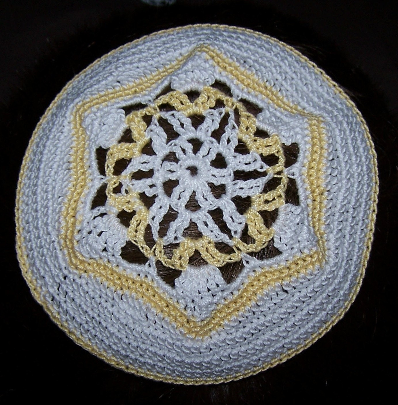 Knitted Floor Cushion Pattern : Bead pattern or directions or instruction kippah. kippax ashtree open day