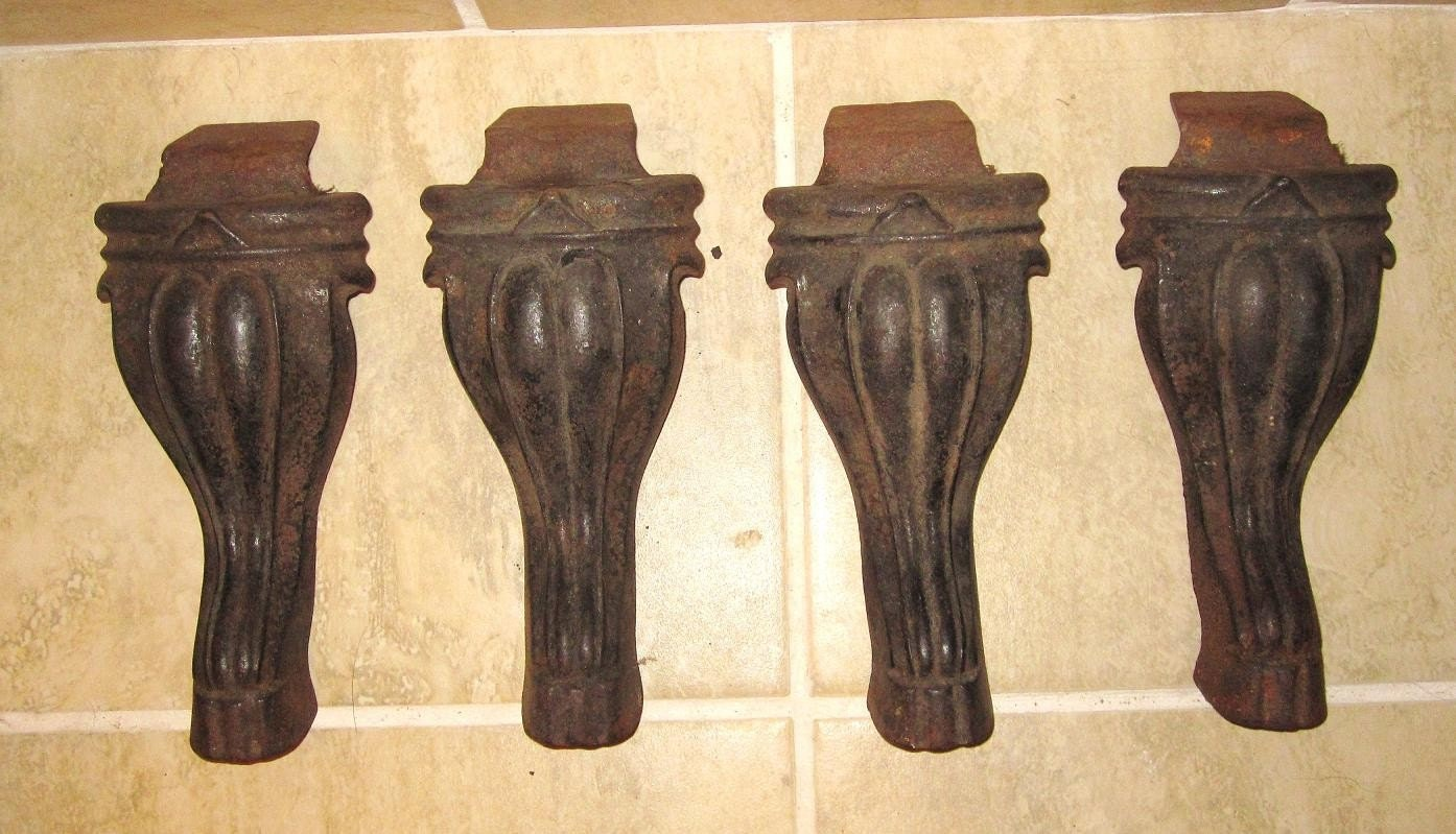 Heavy cast iron antique salvaged table legs by ajscanla on for Coffee table with cast iron legs
