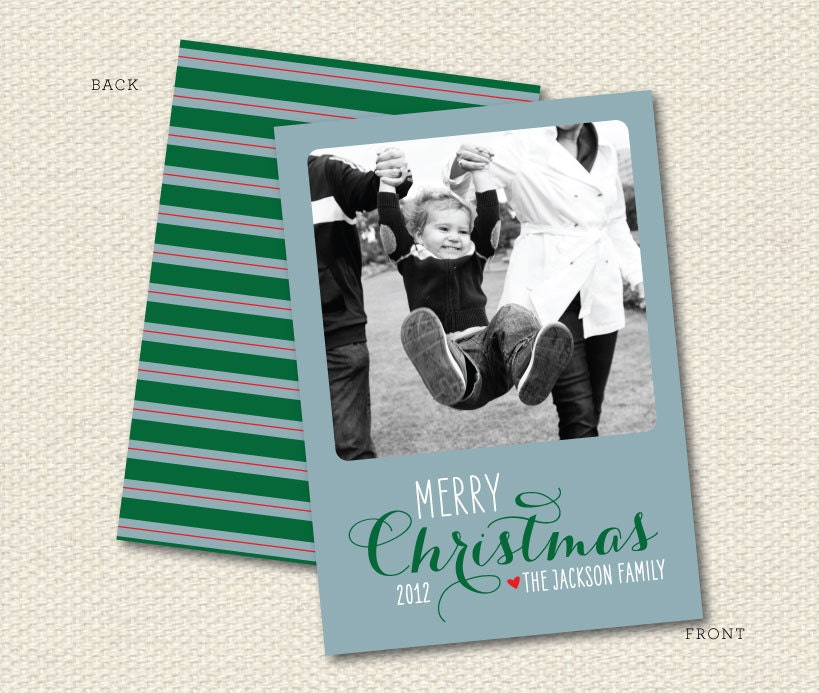 Holiday Photo Card, Christmas, DIY or Professionally Printed
