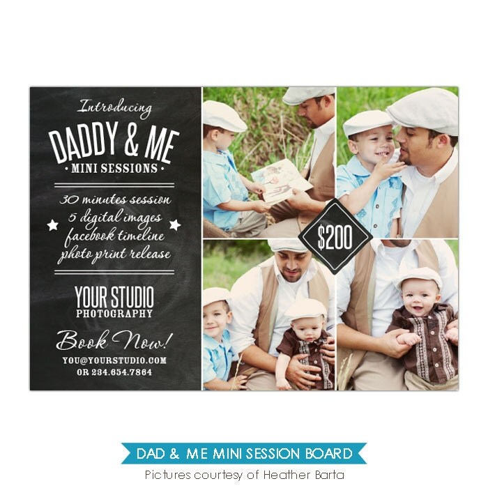INSTANT DOWNLOAD Father's Day Mini Session Template By