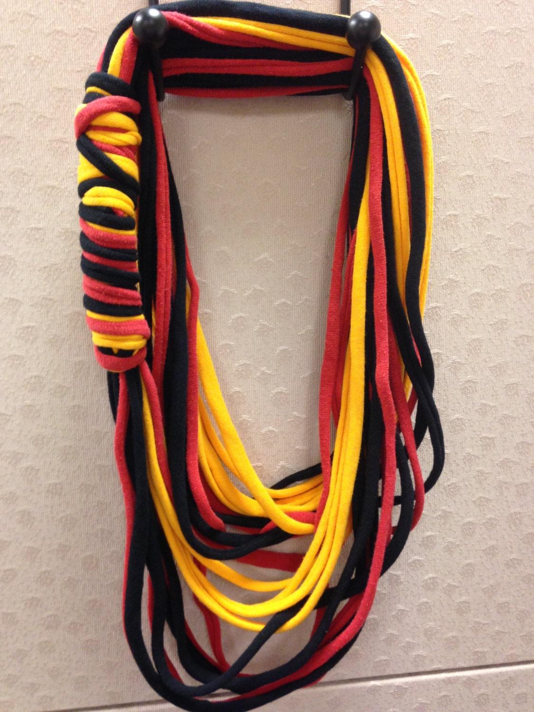 german flag infinity scarf black and by scarvesbyschmaltzy