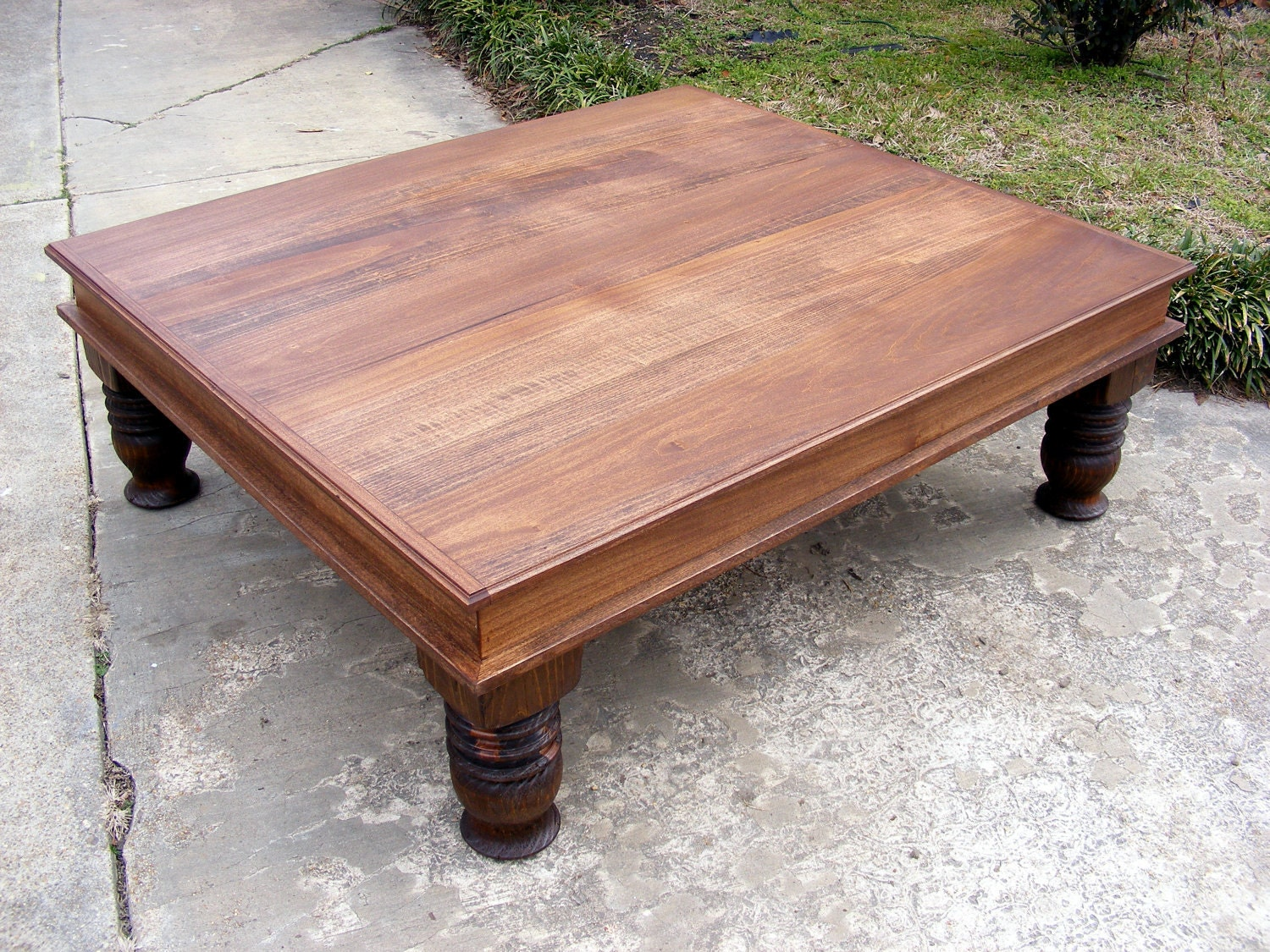 Handcrafted Coffee Table English Chestnut Finish By Thewoodworkman