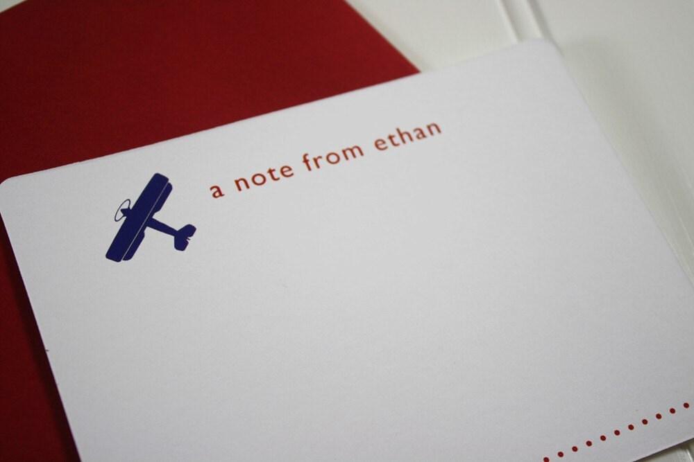 Little Airplane Children's Stationery