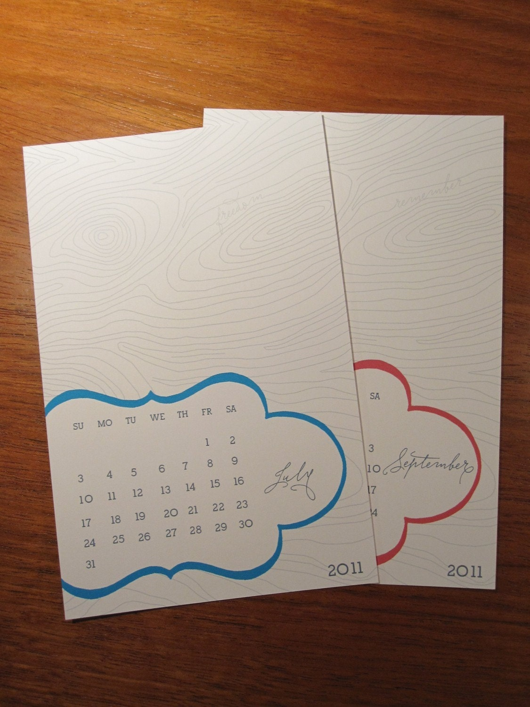 2011 Desktop Calendar