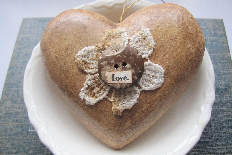 Примитивные Сердце орнамент Grungy Любовь