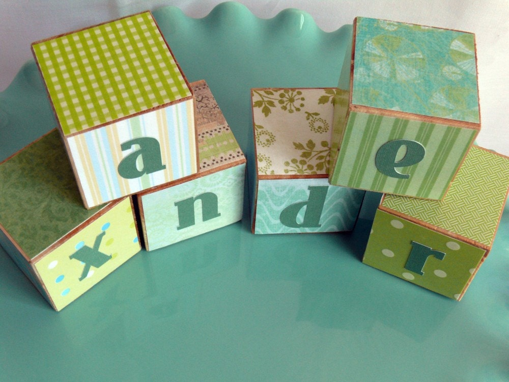 Customized Baby Blocks personalized with baby's name