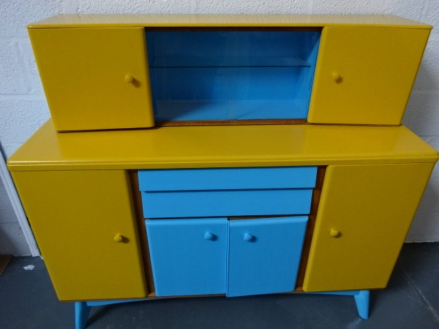 Retro Sideboard with Top CabinetUtility