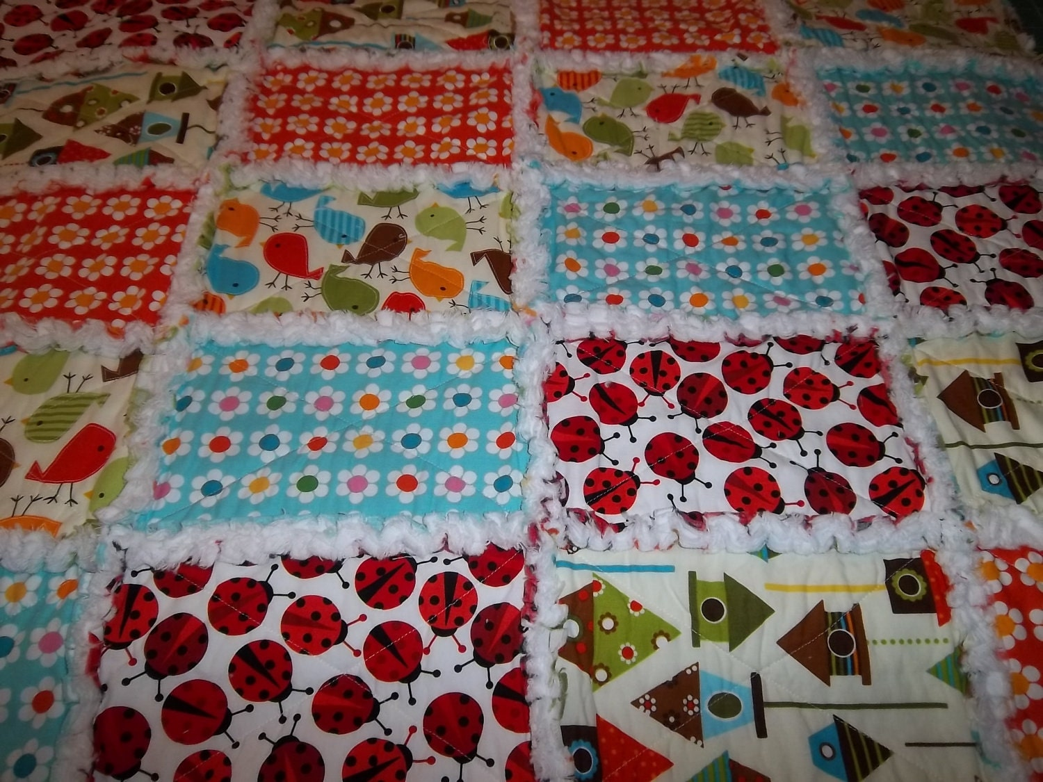 Free Easy Quilt Patterns Instructions : Rag Quilt Patterns on Pinterest Rag Quilt Patterns, Rag Quilt Tutorials and Flannel Rag Quilts