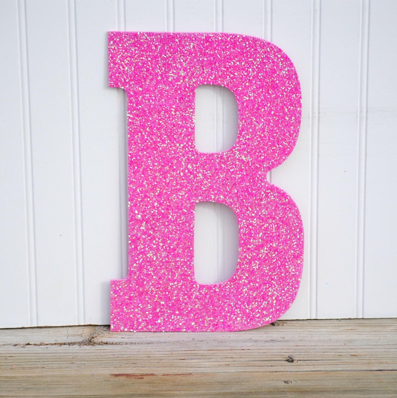 Arthouse Glitter Detail Kids Girls Bedroom Wallpaper: Decorative 13 Pink Glitter Wall Letters Girls By