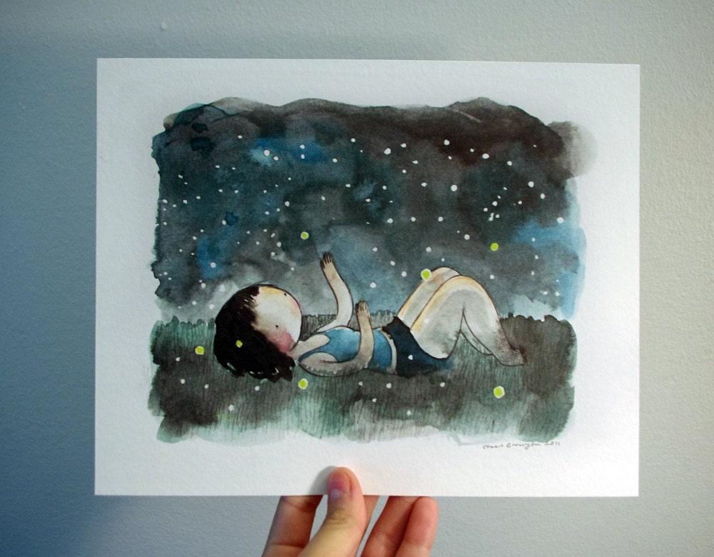 Fireflies 8x10 fine art print