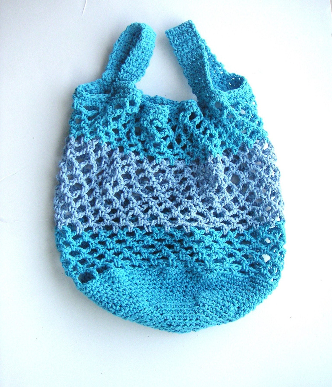Crochet Market Tote Pattern : Crochet Pattern pdf Cotton Market Tote Bag by GraceKnittingPattern