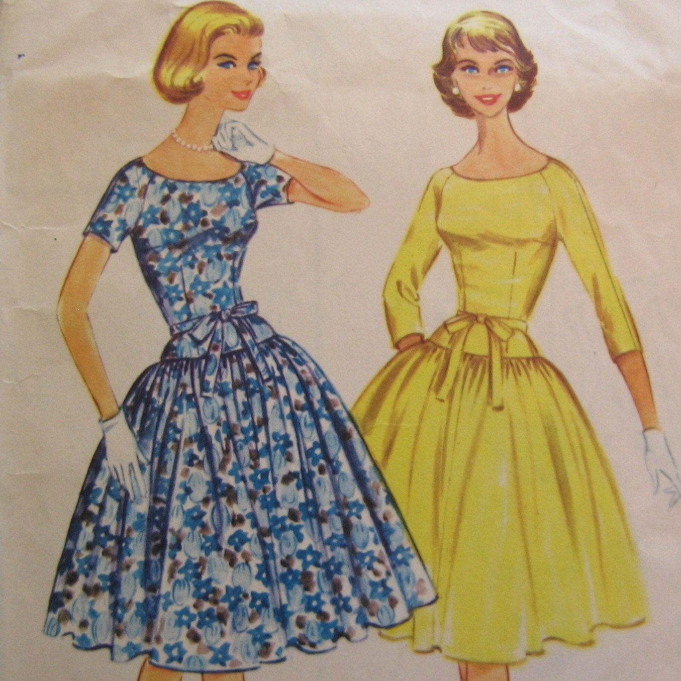 Dress Patterns on Dropped Waist 1960s Dress Mccall S Pattern 5445 Bust 34   Stylehive