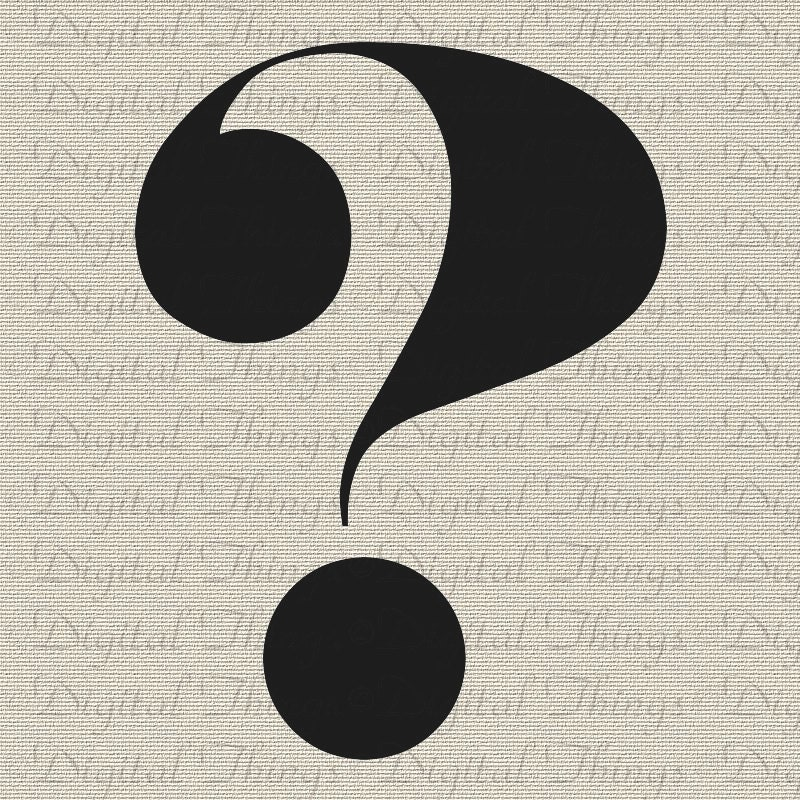 Typography question mark script wall decor art by