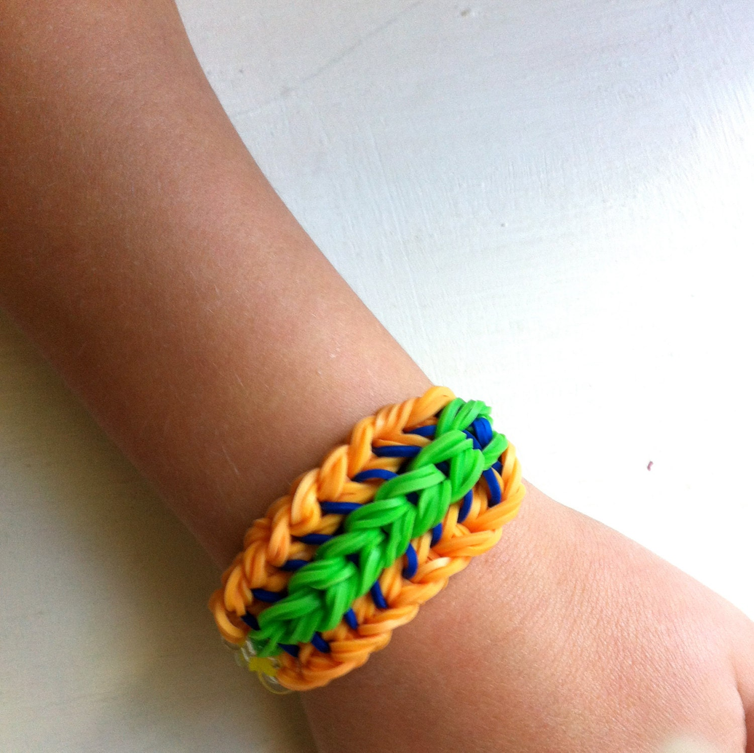 Partial Sailors Pinstripe Bracelet. Rainbow Loom by ...