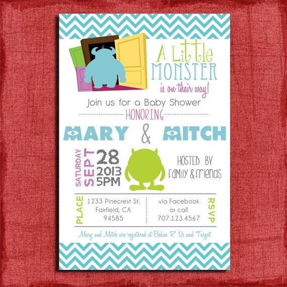 Monster Inc Baby Shower Invitations was very inspiring ideas you may choose for invitation ideas