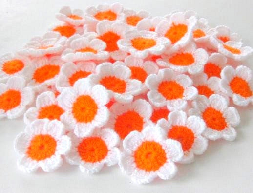 SALE SALE SALE Fairytale Crochet Flowers, 10 pieces Was 10 now 8