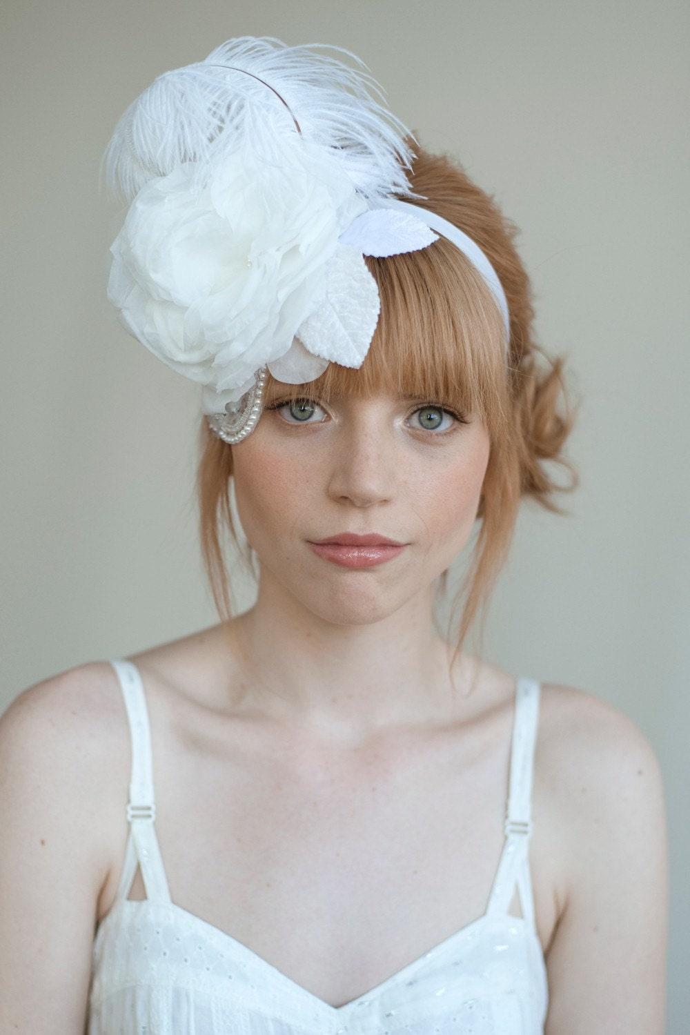 Bridal mini hat with sparkle - Style 027 - Made to Order