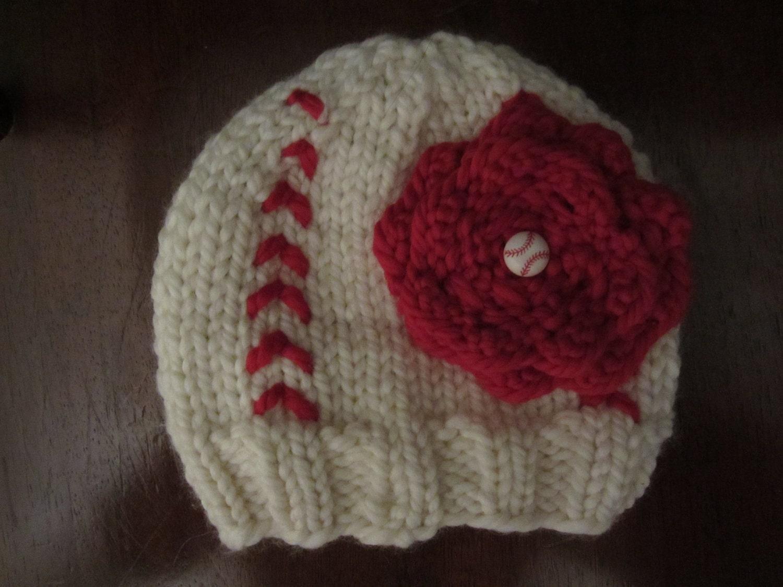 s baseball softball knit hat by jillian0706 on etsy