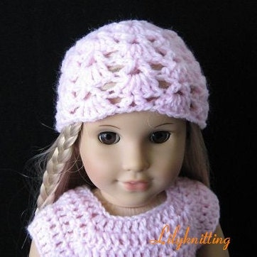 Crochet Hat Pattern American Girl Doll : PATTERN in PDF crocheted doll hat/beanie for by LilyKnitting