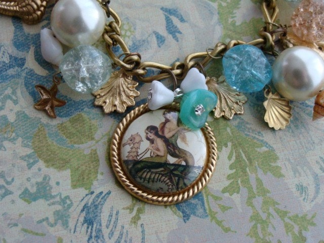 By the Sea   Mermaid Charm Bracelet
