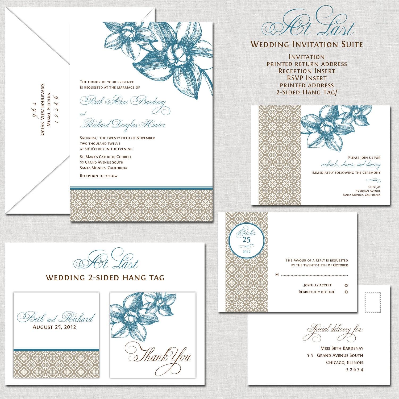 Teal wedding invitations elegant wedding invitation wedding invites